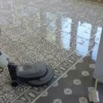 Schoonmaak cementtegels